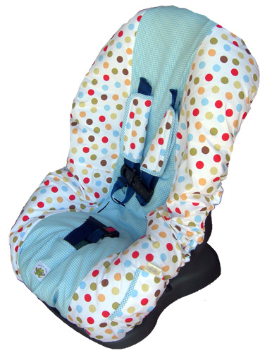 Fine Cocoa Sky Dot Toddler Carseat Cover Dailytribune Chair Design For Home Dailytribuneorg