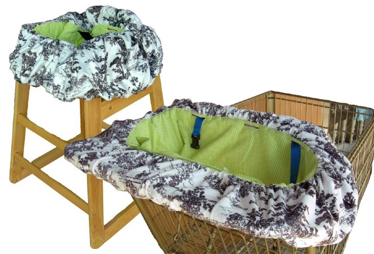 Minky Paradise Toile Ping Cart Cover High Chair